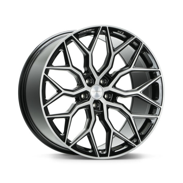 Диски Vossen HF-2 Цвет Brushed Gloss Black. Hybrid Forged серия