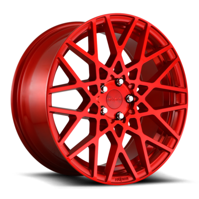 Rotiform BLQ Wheels color Candy Red
